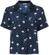 Miu Miu floral micro dotted shirt