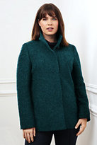 Classic Women's Plus Size Textured Wool Jacket-Dark Ginger Heather