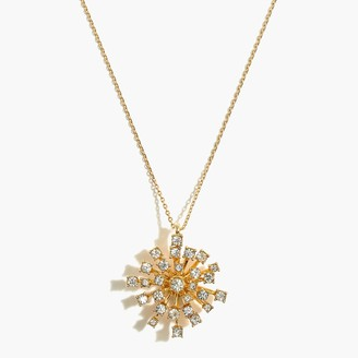J.Crew Firework crystal pendant necklace