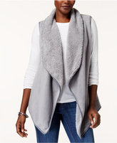 Karen Scott Asymmetrical Fleece Vest, Created for Macy's