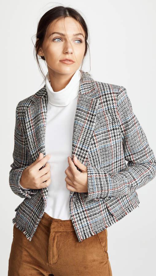 ADAM by Adam Lippes Scottish Tweed Cropped Blazer