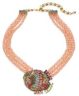 Heidi Daus Summertime Sparkle Beaded Crystal Fish Necklace