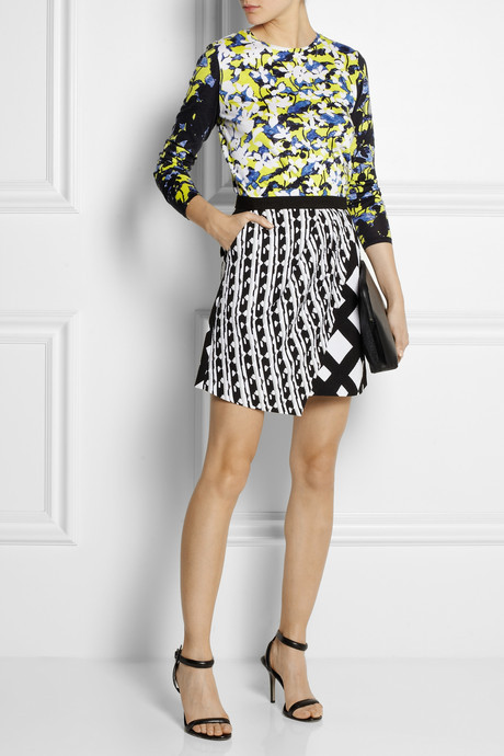 Peter Pilotto for Target Printed cotton-blend jersey top