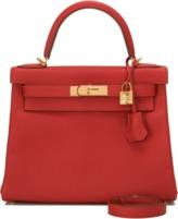 28cm Vermillion Togo Kelly Bag