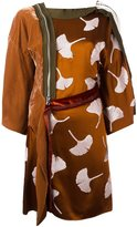 3.1 Phillip Lim sequin ginkgo kimono dress - women - Silk/Acetate/Viscose - 4