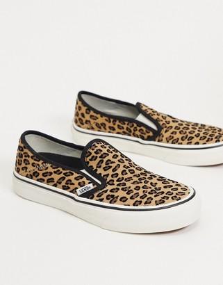 Vans Slip-On sneakers in mini leopard print