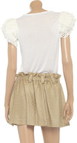 RED Valentino Lace-trimmed jersey top