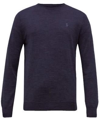 Polo Ralph Lauren Logo-embroidered Merino-wool Sweater - Navy