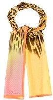 Roberto Cavalli Multicolor Leopard Scarf