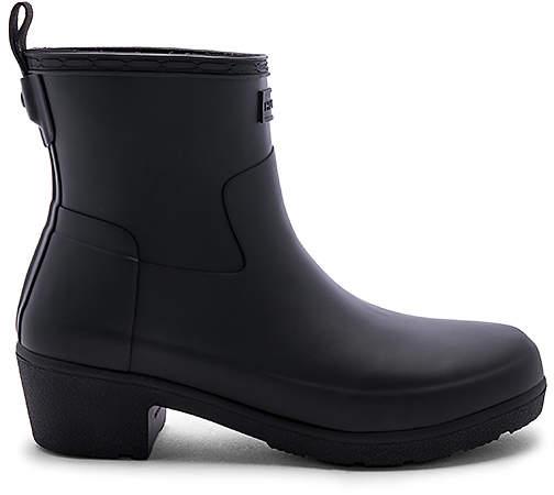 Hunter Refined Low Heel Ankle Matte Boot