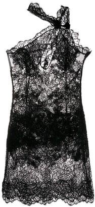 Ermanno Scervino lace asymmetric-neck dress
