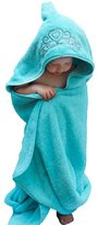 "Princess Hooded Kid Towel (Ice Blue), 27.5"" x 49"", Plush and Absorbent Luxury Bath Towel! 600 GSM, 100% Cotton"