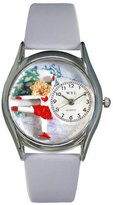 Whimsical Watches Women's S0810006 Ice Skating Light Blue Leather Watch