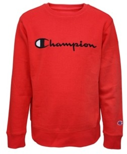 Champion Toddler Boys Embroidered Signature Fleece Crew Hoodie