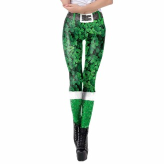 Arestory Womens St. Patrick's Day Clothing High Waist Pencil Pants Cat Animal Print Trousers Tighten Pant Leprechaun Irish Fancy Dress Adult Leggings Running Yoga Workout Sports Pants Trousers