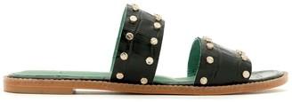 Blue Bird Shoes Croc-Effect Studded Sandals