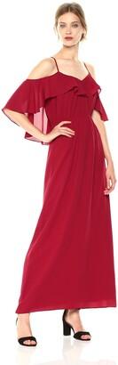 Ali & Jay Women's Cold Shoulder Long Maxi Gown Dress