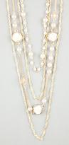 Full Tilt Rose Pearl 4 Row Necklace