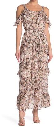 Rachel Roy Floral Ruffle Maxi Dress