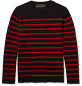 The Elder Statesman Picasso Striped Cashmere Sweater - Black