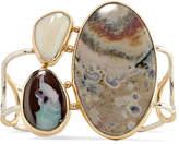 Melissa Joy Manning 14-karat Gold, Opal And Jasper Cuff
