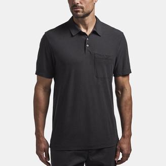 James Perse Cotton Linen Jersey Pocket Polo