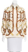 Hermes Eperon d'Or Silk Blouse