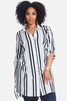 Fashion to Figure Tomas Button Front Stripe Tunic
