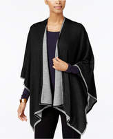 Charter Club Tipped Knit Reversible Poncho, Only at Macy's