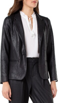 Liverpool Fitted Snake Print Blazer