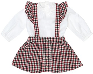 Chloé Kids Baby cotton blouse and skirt set