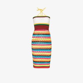 AGR Striped Crazy Knit Dress