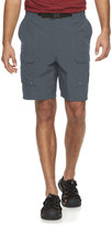 Croft & Barrow Big & Tall Synthetic Side Elastic Belted Cargo Shorts