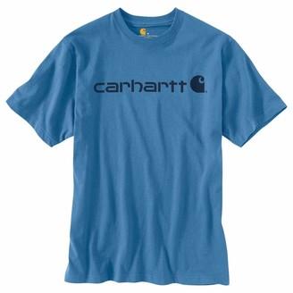 Carhartt Men's Signature Logo Short-Sleeve Midweight Jersey T-Shirt