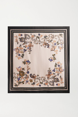 Etro Printed Embroidered Woven Scarf - Ivory