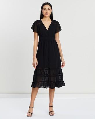 Atmos & Here Shikka Lace Contrast Dress