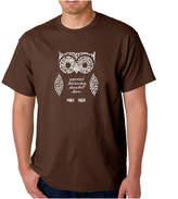 LOS ANGELES POP ART Los Angeles Pop Art Owl Logo Graphic Word Art T-Shirt