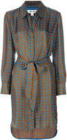 Diane von Furstenberg geometric print shirt dress