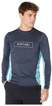 Rip Curl Underline Relaxed Long Sleeve UV Tee (Navy) Men's Swimwear
