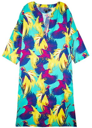 Vilebrequin Birds Of Paradise Silk Tunic Dress