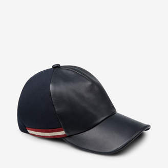Bally Leather and Canvas Casual Cap
