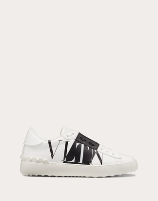 Valentino Open Sneaker With Vltnstar Print Women White/ Black 100% Pelle Di Vitello - Bos Taurus 39.5