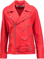 McQ by Alexander McQueen Textured-leather jacket