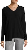 Lafayette 148 New York Women's Relaxed V-Neck Sweater
