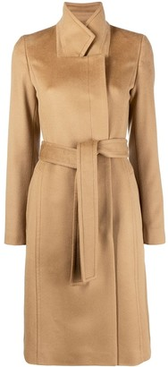 HUGO BOSS Belted Wool Coat