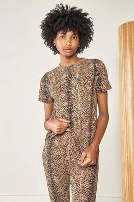 Ragdoll LA EASY VINTAGE TEE Dark Brown Mini Leopard