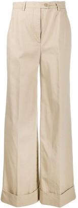 Aspesi Flared Leg High-Waisted Trousers