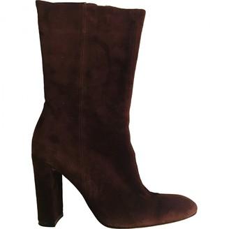 Jean-Michel Cazabat Jean Michel Cazabat Brown Suede Boots