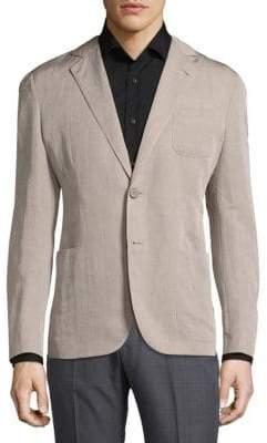 Armani Collezioni Modern Fit Solid Linen-Blend Sportcoat