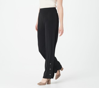 Susan Graver Petite Liquid Knit Pull-On Wide Leg Pants